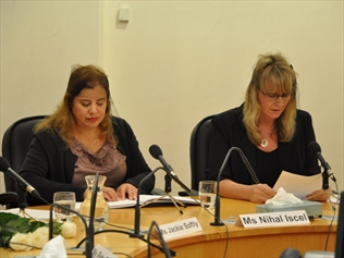 Members of disability activist group the Bolshy Divas give evidence