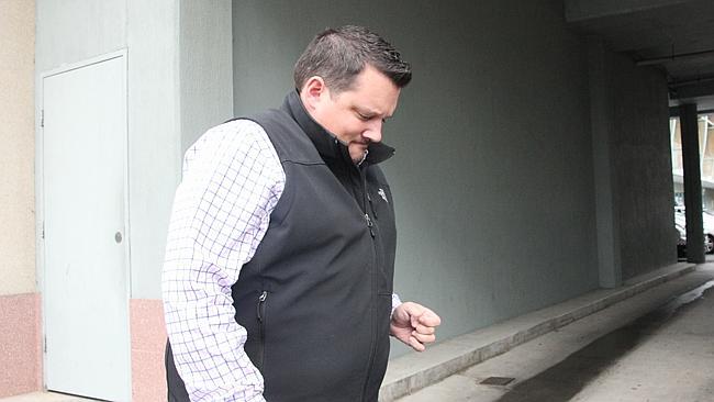 Nicholas Crawford, 30, leaves Cairns Magistrates Court last week.
