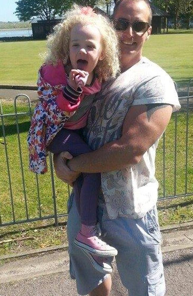 So much love ... Dean Wharmby with his daughter before his diagnosis.