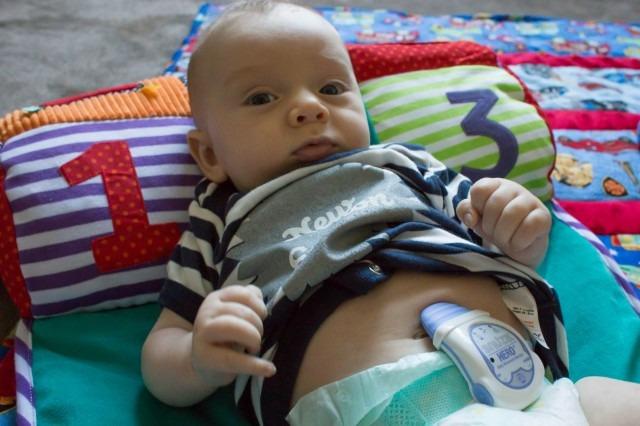 The Snuza vibrates if it doesn't detect abdominal movement.