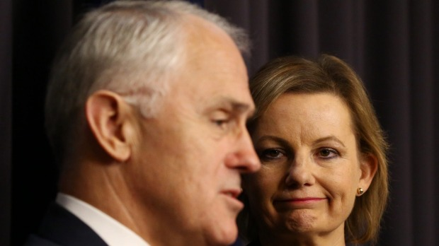 Prime Minister Malcolm Turnbull and Health Minister Sussan Ley on Thursday. Photo: Andrew Meares