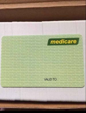 A fake card ready to be imprinted with details.
