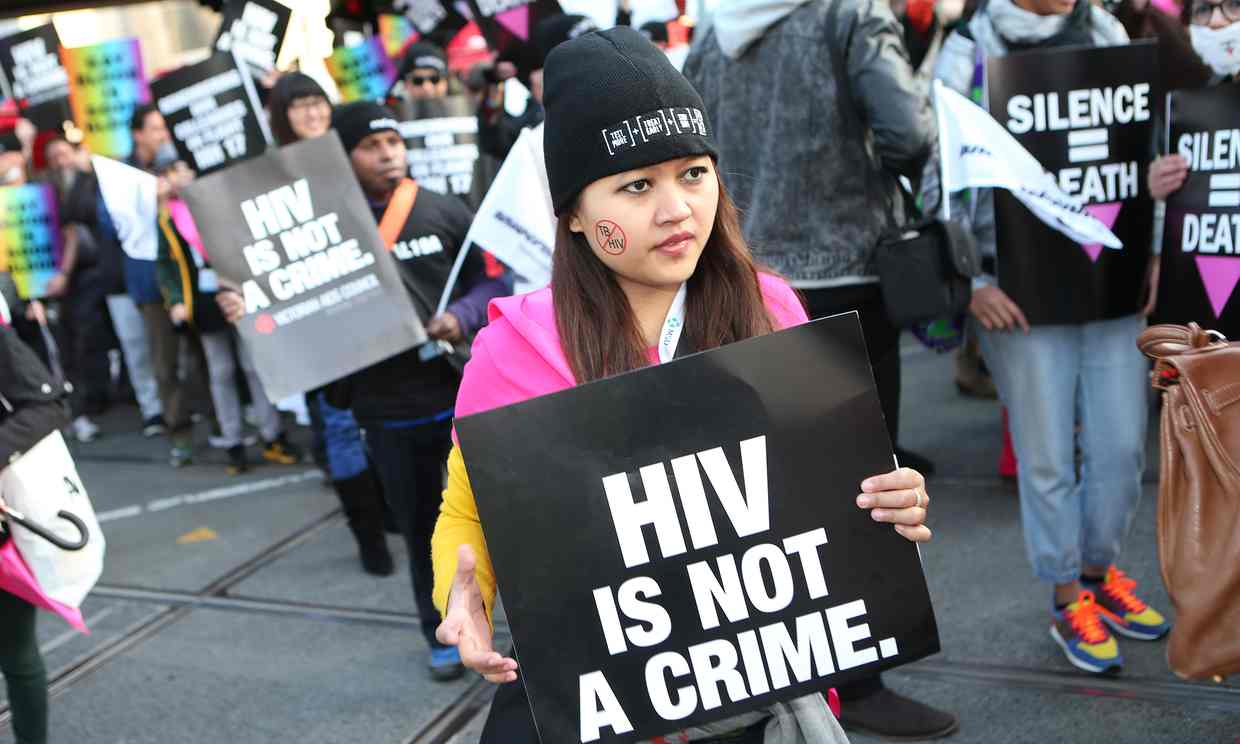 HIV-Aids rights protest Melbourne