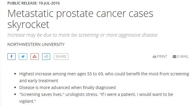northwestern release prostate