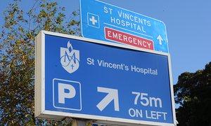 St Vincent's Hospital in Darlinghurst, Sydney