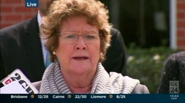 Health Minister Jillian Skinner releasing the report at Orange Hospital on Tuesday.