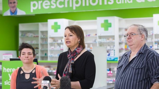 Federal Minister for Health Sussan Ley addresses the media about a new round of medicine price drops which will take ...